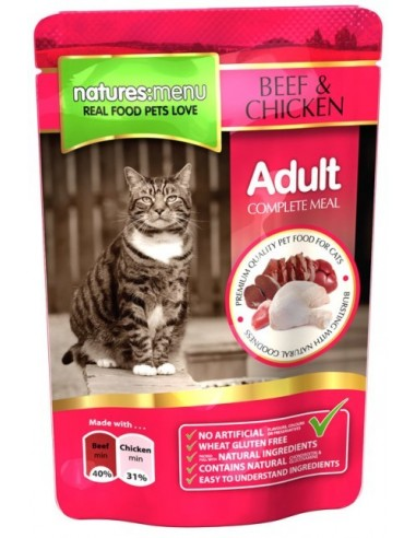 Natures Menu Cat Adult Beef and Chicken 100 gr. 5025730001672