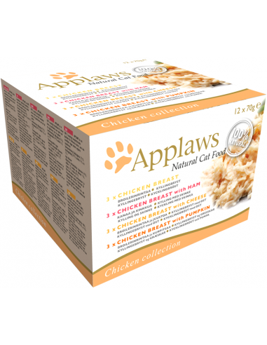 Applaws Cat Multipack Pollastre 70 Gr 12u Llaunes Per