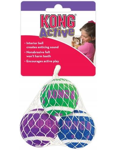 Kong Cat Active Tennis Balls With Bells (3 Unitats). 035585334066