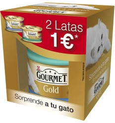 Purina Gourmet Gold Cat Adult Buey y Pescado 2 x 85 gr. 7613037085624
