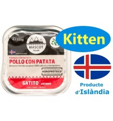 Mascot Nature Kitten Pollo y Patata 100 gr. 8437018076116