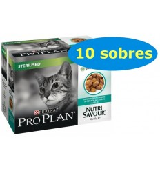 Purina Pro Plan Cat Nutri Savour Adult Sterilised Pescado del Océano. Pack 10x85gr 7613039515990