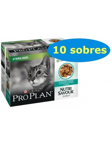 Purina Pro Plan Cat Sterilised Adult Peix de l'Oceà. Pack 10x85gr 7613039515990