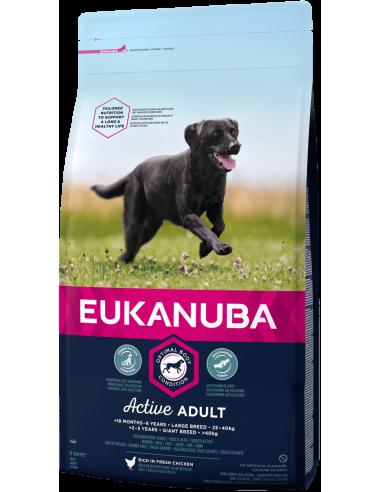 Eukanuba Adult Large Pollastre 15 + 3 Kg. 8710255121772