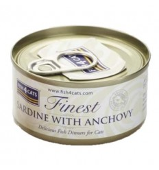 Fish4Cats Finest Sardina con Anchoa. 70 gr 5056008806866