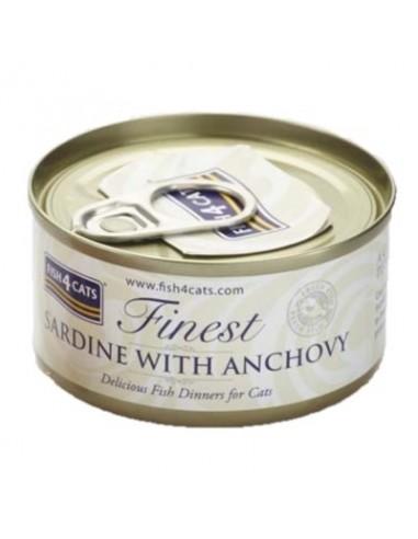 Fish4Cats Finest Sardina amb Anxova. 70 gr 5056008806866