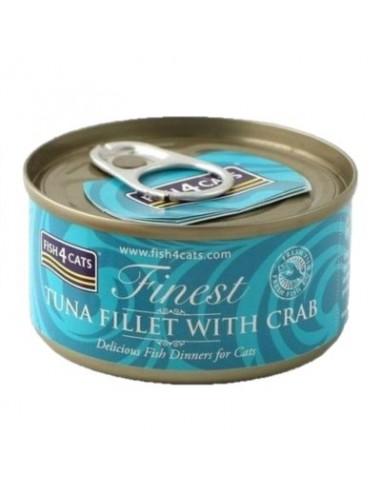 Fish4Cats Finest Tonyina amb Cranc. 70 gr 5060084829558