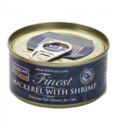 Fish4Cats Finest Caballa con Gambas. 70 gr 5056008806880