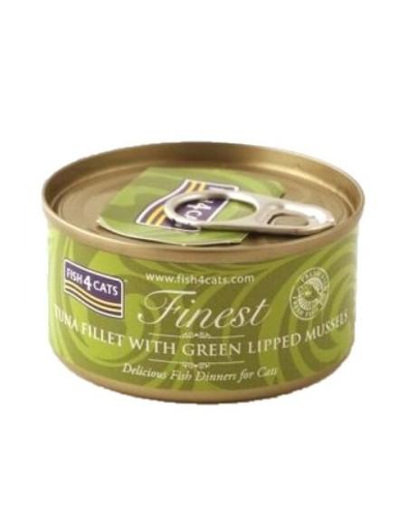 Fish4Cats Finest Tonyina amb Musclos. 70 gr 5060084829633