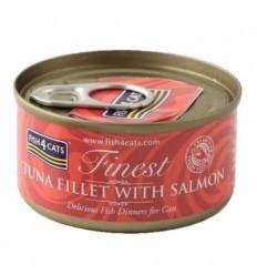 Fish4Cats Finest Tonyina amb Salmó. 70 gr 5060084829657