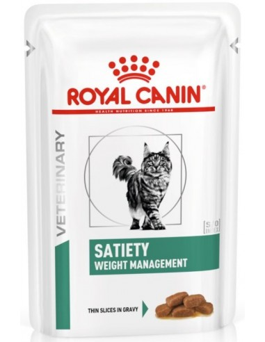 Royal Canin Veterinary Diet Cat Adult Satiety Weight Management Gravy 85 gr 9003579006146