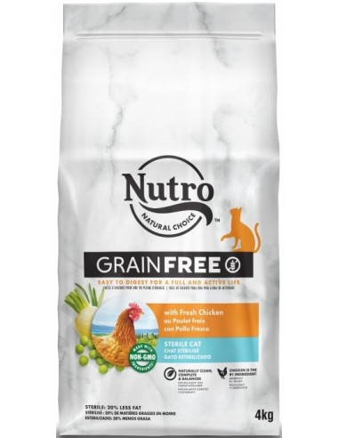 Nutro Natural Choice Cat Grain Free Adult Sterile Pollastre 4 kg 8410136023408