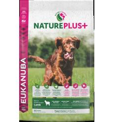 Eukanuba Nature Plus Dog Puppy 10 kg. Pienso Perros Cachorros y Jóvenes Todas las Razas Dieta Normal Cordero Arroz 8710255140674