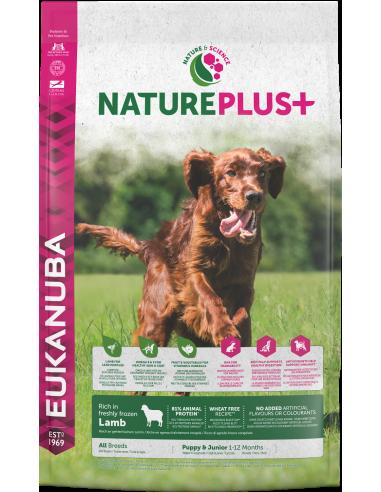 Eukanuba Nature Plus Dog Puppy 10 kg. Pinso Gossos Cadells i Joves Totes les Races Dieta Normal Xai Arròs 8710255140674