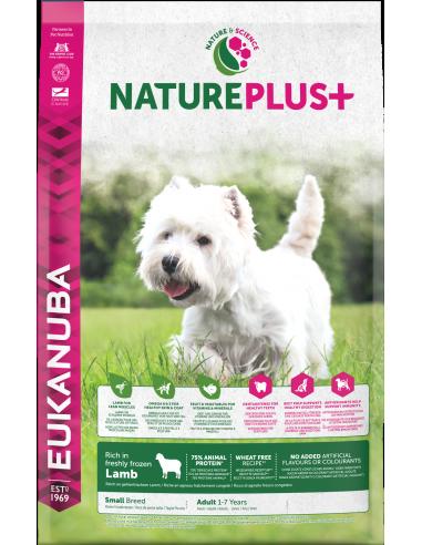 Eukanuba Nature Plus Dog Adult Small 2,3 kg. Pinso Gossos Adults Races Mini i Petites Dieta Normal Xai Arròs 8710255140728